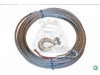 Трос стальной для лебедки 6000 LBS 8мм*22м 2672
