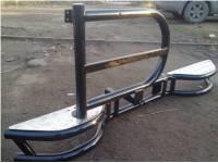 Бампер задний на УАЗ 469 Тайга с кронштейном запасного колеса