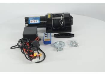 Лебедка электрическая 12V Electric Winch 4000lbs / 1814 кг с кевларовым тросом